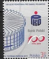 POLAND,  2019, MNH, FINANCE, 100th ANNIVERSARY OF ESTABLISHMENT OF PKO BANK POLSKI, BANKS,1v - Stamps