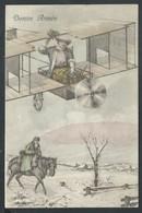+++ CPA - Carte Fantaisie - Voeux Bonne Année - Avion - Hiver - Neige - Style Vienne    // - Cochons