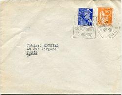 FRANCE LETTRE DEPART SUMENE 26-1-39 GARD AVEC CACHET SUMENE.........SILLONNENT LE MONDE POUR LA FRANCE - 1932-39 Paix