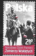 POLAND,  2019, MNH, MILITARY, HORSES, NATIONAL DAY OF REMEMBRANCE OF ACCURSED SOLDIERS, 1v - Militaria