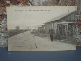 Cpa BARLEUX (Somme) En 1920 Un Coin Du Village - Côté Sud - Francia
