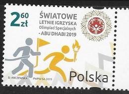 POLAND,  2019, MNH, SPORTS, SPECIAL OLYMPICS, ABU DHABI 2019,1v - Olympic Games