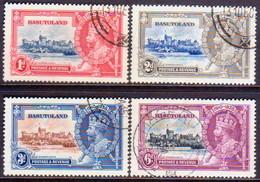 1935 BASUTOLAND SG 11-14 Compl.set Used CV £21 Silver Jubilee - Basutoland (1933-1966)