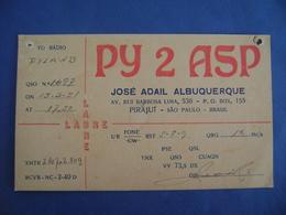 "BRAZIL - AMATEUR RADIO CARDS ""PY2ASP"" - PIRAJUI (SAO PAULO) 1951 IN THE STATE - Radio Amateur"