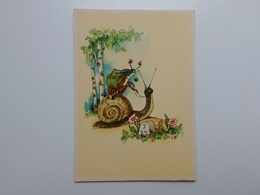 Insect. Fantasy. DDR Postcard. Tbr-180 - Insects