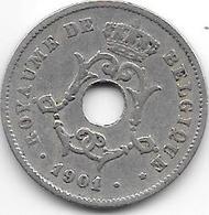 Belguim 10 Centimes 1901 French - 1865-1909: Leopold II
