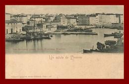 Un Saluto Da Liverno * La Darsena Press   ( Scan Recto Et Verso ) - Livorno