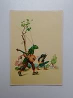 Grasshopper. Fantasy.  DDR Postcard. Tbr-184 - Insects