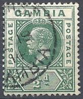 Gambia, 1912 King George V, ½d Green, Wmk Multi Crown CA # S.G. 86 - Michel 66 - Scott 70  USED - Gambia (...-1964)