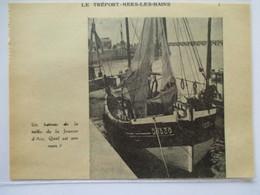 Année 1953 - LE TREPORT - Chalutier  D1530 - Coupure De Presse Originale (encart Photo) - Historical Documents