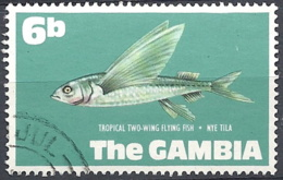 Gambia, 1971 Tropical Two-wing Flying Fish, 6b # S.G. 273 - Michel 250 - Scott 255 USED - Gambia (1965-...)