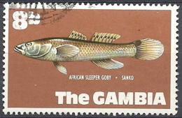 Gambia, 1971 African Sleeper Goby, 8b # S.G. 274 - Michel 251 - Scott 256 USED - Gambia (1965-...)