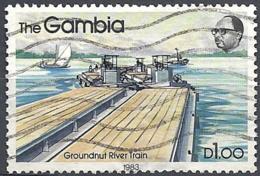 Gambia, 1983 Peanut River Train, 1D # S.G. 505 - Michel 474 - Scott 476 USED - Gambia (1965-...)