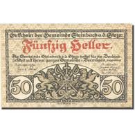 Billet, Autriche, Steinbach, 50 Heller, Blason 1920-12-31, SPL Mehl:FS 1025 - Autriche