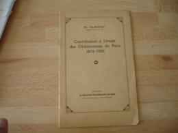 Etude Obliterations De Paris 1876 . 1900 - Specialized Literature