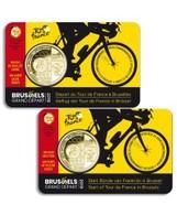 Belgique 2019 : Lot De 2 Coincards De La 2,5€ Commémorative 'Départ Tour De France à Bruxelles' (BU) - DISPONIBLE - Belgique