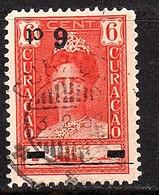 1929 Surcharge Kopstaand Inverted VF Used (169) - Curacao, Netherlands Antilles, Aruba