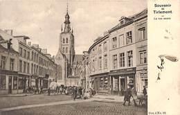 Tienen Souvenir De Tirlemont - La Rue Neuve (animatie, Vanderauwera Et Cie 1903) - Tienen