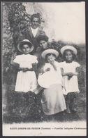 CPA Tunisie, SAINT JOSEPH DE THIBAR, Famille Indigene Chretienne - Tunisia