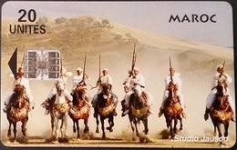 Telefonkarte Marokko - Reiter - 20 Units - Morocco