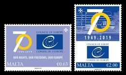 Malta 2019 Mih. 2055/56 Council Of Europe MNH ** - Malta