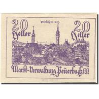 Billet, Autriche, Peuerbach, 20 Heller, Village 1920-12-31, SUP+ Mehl:FS 742I - Autriche