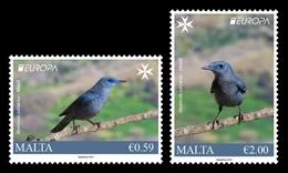 Malta 2019 Mih. 2057/58 Europa. National Birds. Fauna. Blue Rock Thrushes MNH ** - Malta