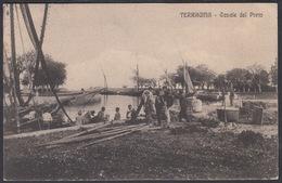 Italia  -  TERRACINA, Canale Del Porto, 1914 - Latina