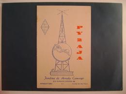 """BRAZIL - AMATEUR RADIO CARDS """"PY2AJA"""" - ARAÇATUBA  (SAO PAULO) 1952 IN THE STATE - Radio Amateur"""