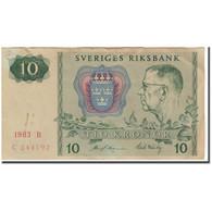 Billet, Suède, 10 Kronor, 1983, KM:52e, TTB - Suède
