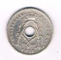 5 CENTIMES  1931 VL   BELGIE /4304/ - 1909-1934: Albert I