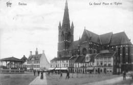 Eecloo Eeklo - La Grand Place Et L'Eglise (animatie, Héliotypie De Graeve Star, 1912) - Eeklo