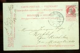 HANDGESCHREVEN BRIEFKAART Uit 1907 Van BRUXELLES BELGIE Naar EPEN MECHELEN (11.557a) - 1905 Grove Baard