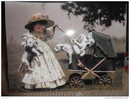 """Enfants De SYLVIA MURRAY : Fillette Faisant La Promenade Des Chiens """"dalmatiens"""" En  Landau -    !! - Non Classés"""
