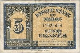 Marruecos - Morocco 5 Francs 1-8-1943 Pk 24 1 Ref 2 - Marruecos
