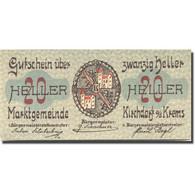 Billet, Autriche, Kirchdorf A/d Krems 20Heller Village, 1921 SPL Mehl:FS445IIa - Autriche