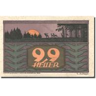 Billet, Autriche, St Johann Am Walde, 99 Heller, Forêt, 1921 SUP Mehl:FS 893a - Autriche