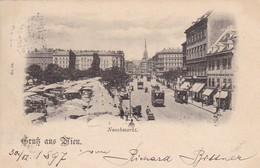 AK Gruß Aus Wien - Naschmarkt - 1897 (41290) - Vienna