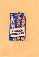 F2405 - ALASKA AIRLINES - Étiquettes à Bagages