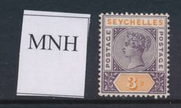 SEYCHELLES, 1893 3c Unmounted Mint - Seychellen (...-1976)