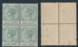 TURKS, 1882 ½d Green Block Unmounted Mint - Turks- En Caicoseilanden
