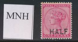 NATAL, 1895 HALF On 1d Unmounted Mint - Zuid-Afrika (...-1961)