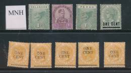 MALAYA, 1880s Nine Unmounted Mint Stamps - Malacca