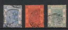 HONG KONG, 1882 5c, 10c, 10c - Gebruikt