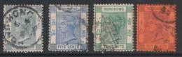 HONG KONG, 1880s 4c, 5c, 10c,10c - Gebruikt