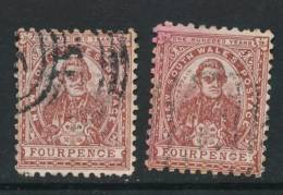 NEW SOUTH WALES, 1888 4d Purple-brown + Red-brown P11x12, SG255, 255d, Cat £10 - 1850-1906 New South Wales