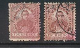 NEW SOUTH WALES, 1888 4d (P11x12 + P12) Ordinary Paper, SG255d, 255db, Cat £10 - 1850-1906 New South Wales
