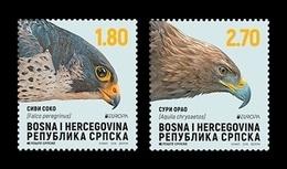 Bosnia And Herzegovina (Serbian) 2019 Mih. 788/89 Europa. National Birds. Fauna. Golden Eagle And Falcon MNH ** - Bosnia And Herzegovina