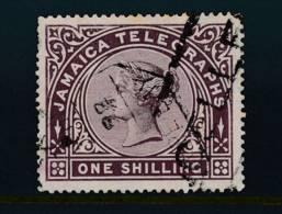 JAMAICA, 1879 1/- TELEGRAPHS - Jamaica (...-1961)