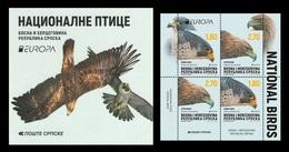 Bosnia And Herzegovina (Serbian) 2019 Mih. 788/89 Europa. National Birds. Fauna. Golden Eagle And Falcon (booklet)MNH ** - Bosnia And Herzegovina